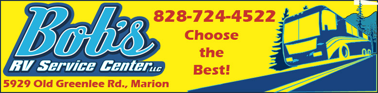 Bob's RV Body Shop Banner Marion NC